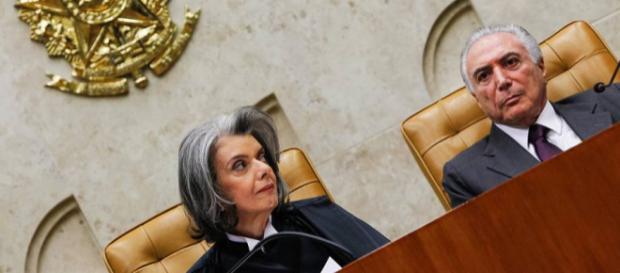 Presidente Michel Temer tem relações estremecidas com a presidente do STF, ministra Cármen Lúcia