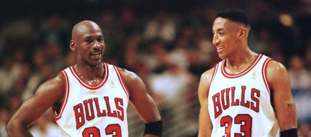 Scottie Pippen y Michael Jordan