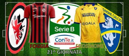 Foggia e Frosinone si sfideranno oggi, 28/12, nella 21^ giornata del campionato di Serie B ConTe.it 2017/18.