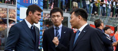 Javier Zanetti con Steven e Jindong Zhang
