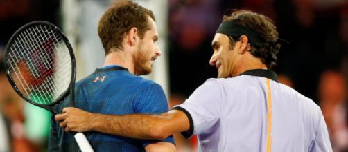 Los tenistas Roger Federer y Andy Murray.