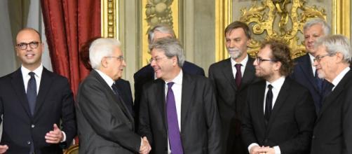 Sergio Mattarella con il Presidente del Consiglio Gentiloni.
