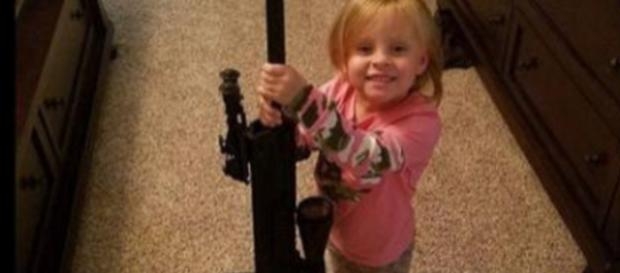 Addie Faith gets real guns from Christmas - Image credit - Jeremy Calvert | Instagram
