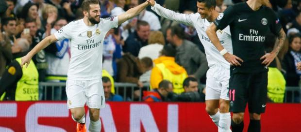 Cristiano Ronaldo celebrando con el Real Madrid.