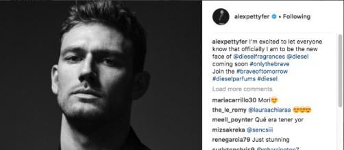 Alex Pettyfer Instagram: l'immagine per Diesel