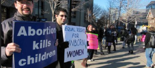 Anti abortion activists - Image credit University of Torontom | Flickr
