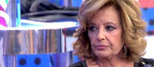 María Teresa Campos, enfadada.