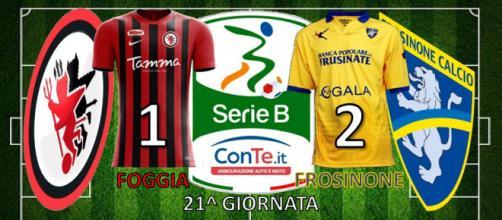 Termina 1-2 allo Zaccheria tra Foggia e Frosinone nella 21^ giornata del campionato di Serie B ConTe.it 2017/18