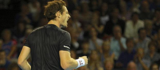 Andy Murray during a Davis Cup action. Image Credit: Marianne Bevis, Flickr -- CC BY-ND 2.0