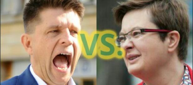 'Gruby Chińczyk' Lubnauer vs. 'Rumun' Petru (foto: youtube.com)