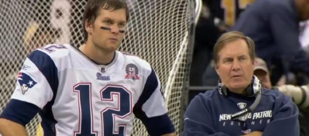 Patriots quarterback Tom Brady and head coach Bill Belichick. - [NFL World / YouTube screencap]