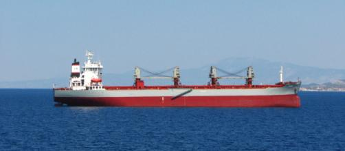 An oil tanker ship (Image credit – fdecomite, Wikimedia Commons)