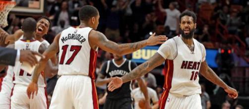 La estrella del Miami Heat sufre una lesión durante el video de los Clippers.