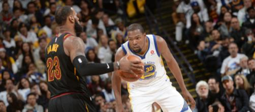 LeBron James says he got fouled by KD - (Image: YouTube/NBA)