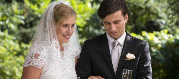 Marcjanna Lelek i Piotr Nerlewski w scenie z serialu 'M jak miłość' (fot. oficjalna strona serialu)