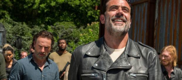 Negan e Rick em ''The Walking Dead''