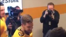 Victor Arvidsson assists in pre-game marriage proposal