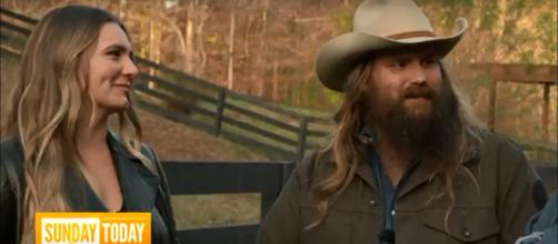Chris Stapleton and wife, Morgane have multiple reasons for joy in life and in music these days. [TODAY screencap/YouTube]