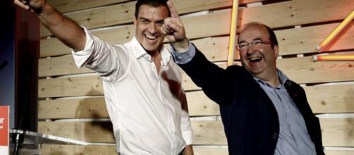 PEDRO Sánchez y Miquel Iceta en