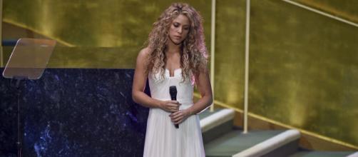 Shakira durante apresentação na ONU em 2015