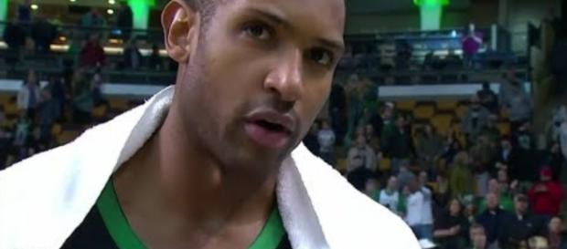 Al Horford is playing great in his second season with the Boston Celtics – [image credit: GD Highlights/Youtube]