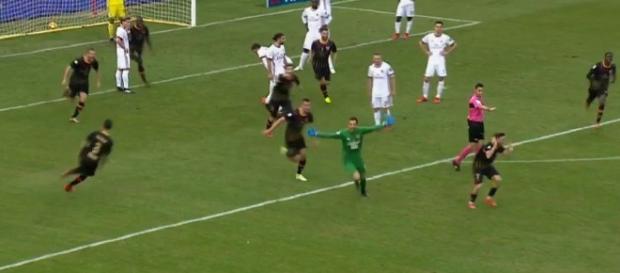 Alberto Brignoli a offert la victoire aux siens dans le temps additionnel (Capture beIN SPORTS)