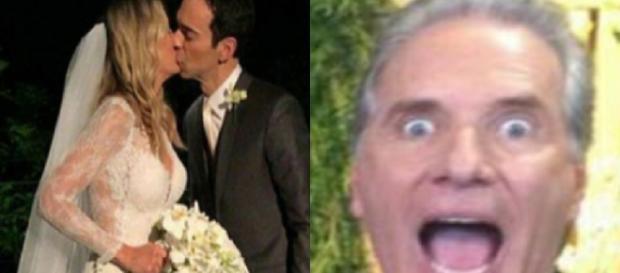 Justus vai a casamento da ex com nova mulher