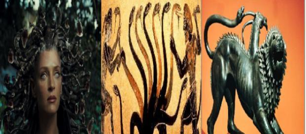 Medusa, Hidra e Quimera são monstros horríveis na mitologia grega