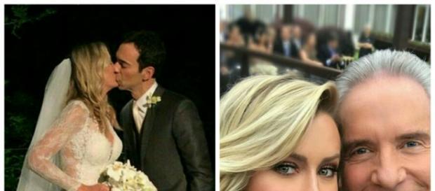 Ticiane Pinheiro e César Tralli casaram. Roberto Justus e namorada comparecem