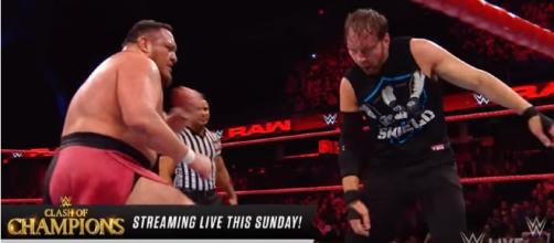 Dean Ambrose vs. Samoa Joe: Raw, Dec. 11,- Image credit - WWE | YouTube