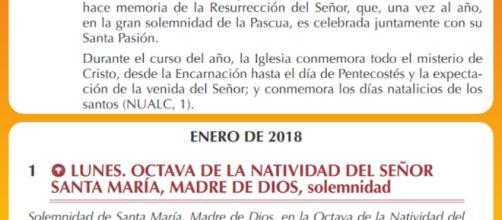 El 1 de enero no es el primer día del año para la Iglesia Católica. Su calendario comienza entre finales de noviembre y primeros de diciembre