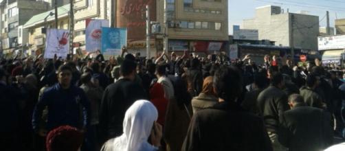 Iran protest rally. - [Image courtesy unidentified Iranian / Wikimedia Commons]