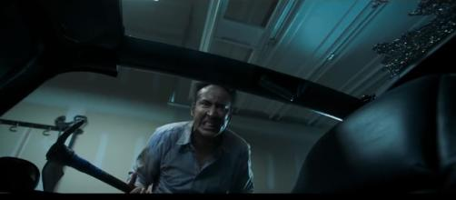 "Nicholas Cage in rage mode for the film ""Mom and Dad""- Image Credit:BBC/YouTube screencap"