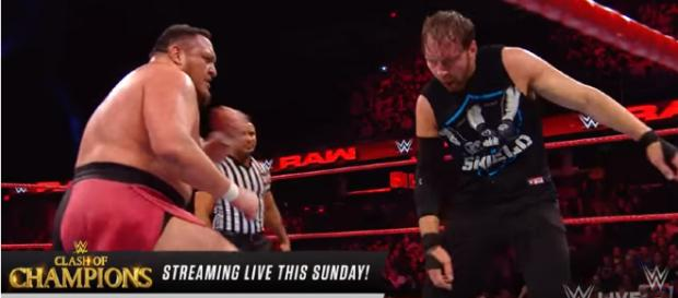 Dean Ambrose vs. Samoa Joe: Raw, Dec. 11,- Image credit - WWE | YouTube