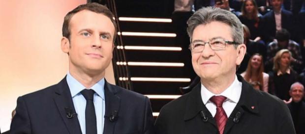 Un Macron-Jupiter sûr de lui face à un Mélenchon souriant malgré lui.