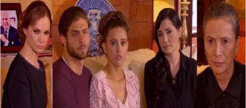 Carlos, Fernanda, e outros personagens da novela 'Um Caminho Para o Destino'