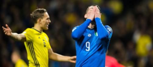 La disperazione al fischio di chiusura di Italia-Svezia