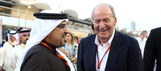 El Rey Juan Carlos y un jeque árabe