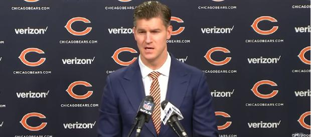 GM Ryan Pace addressed the media after the firing of John Fox. - [image - Chicago Bears / Youtube screencap]