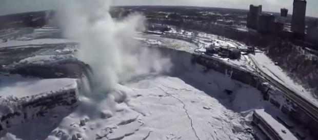 It's icy cold at Niagara Falls right now due to the current Arctic blast. - [NBC News / YouTube screencap]