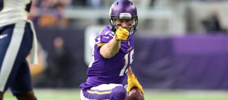 Adam Thielen and the Vikings are headed upward. [Image via ESPN/YouTube]