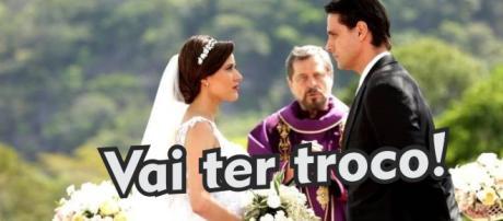 Casamento de Débora e Adriano na novela