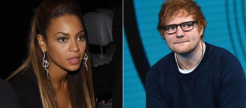 """Ed Sheeran told his secret of keeping in touch with Beyonce for their duet """"Perfect."""" Image Credit: Blasting News"""