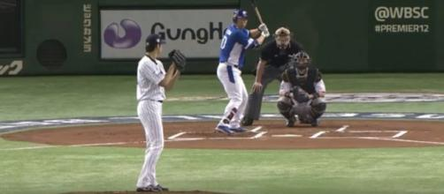 Shohei Ohtani pitching in Japan. - [WSBC / YouTube screencap]