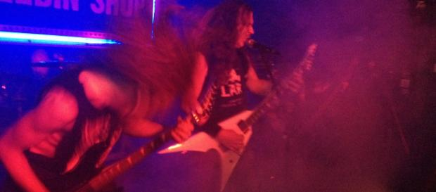 Genre-definers Exhumed bring the metal to Canton, Ohio (Photo by author: Samuel Earl Di Gangi)