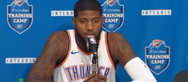 The trade buzz surrounding OKC Thunder star Paul George is still alive. – [image credit: Ximo Pierto/Youtube]