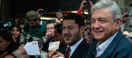 El candidato de MORENA Andrés López Obrador