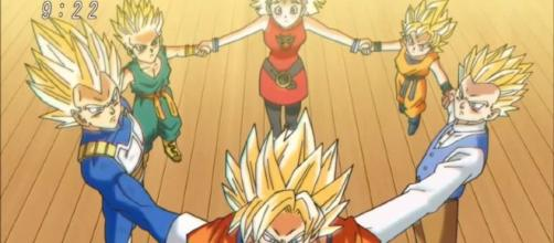Cinco Super Saiyans invocan al SS Dios