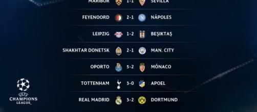 Definidos los equipos calificados a los octavos de final de la Champions League.