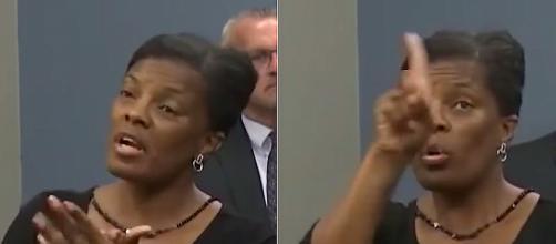 Derlyn Roberts posing as an ASL Interpreter. Image Credit: Blasting News